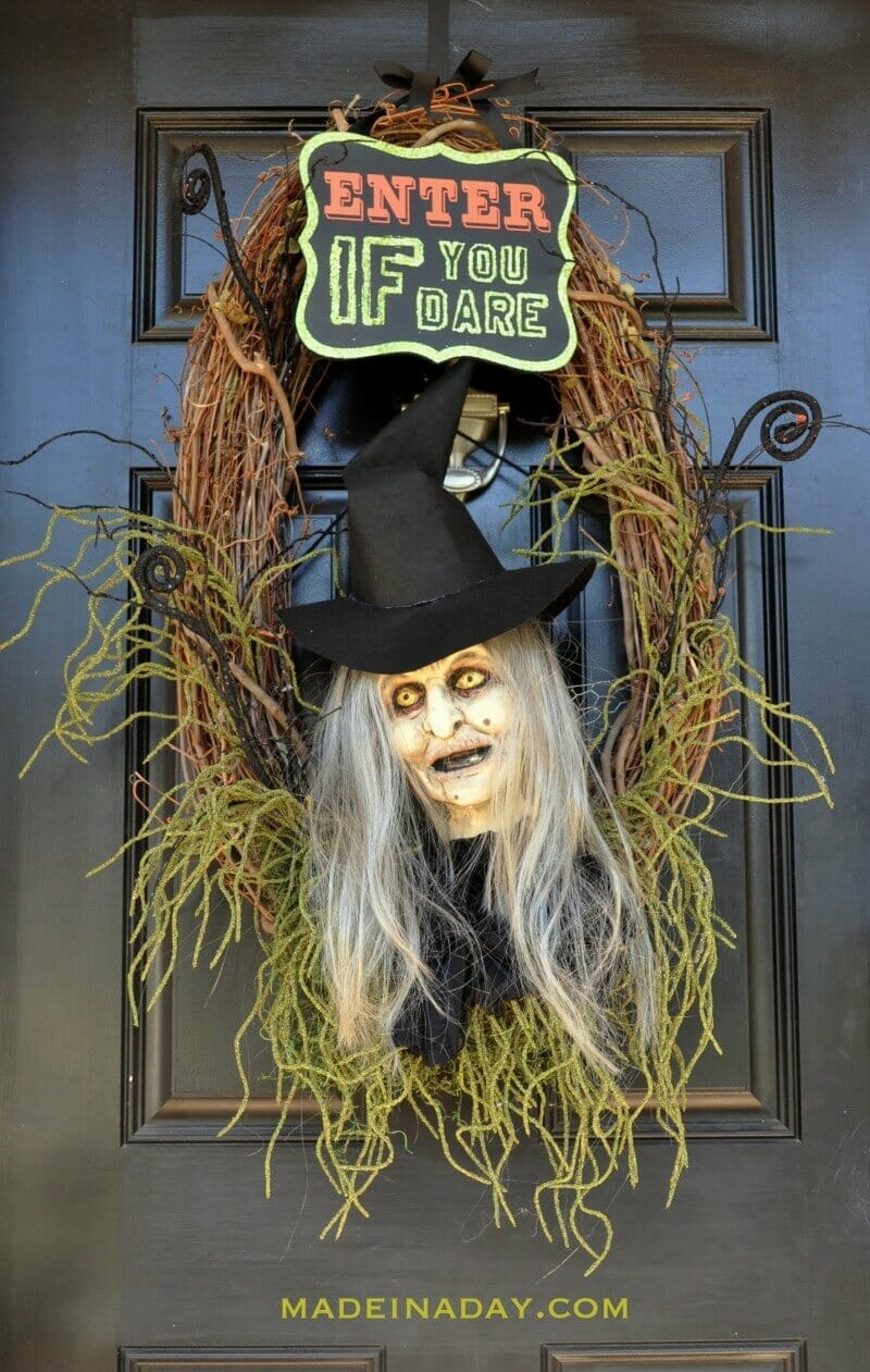 Halloween Witch Wreath by Made In A Day