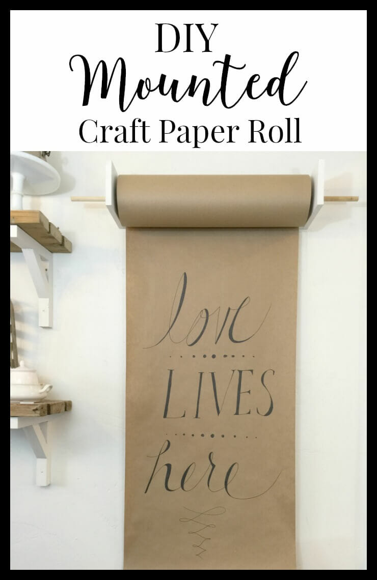 This DIY mounted craft paper roll would look so great in a kitchen or office. | Twelveonmain.com
