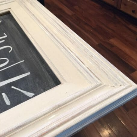 Chalk painted picture frame