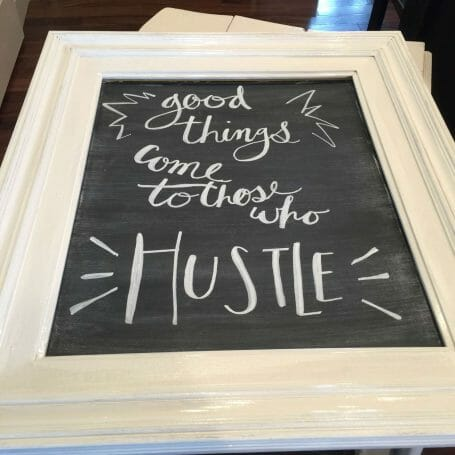 Update your frame with Chalk paint.