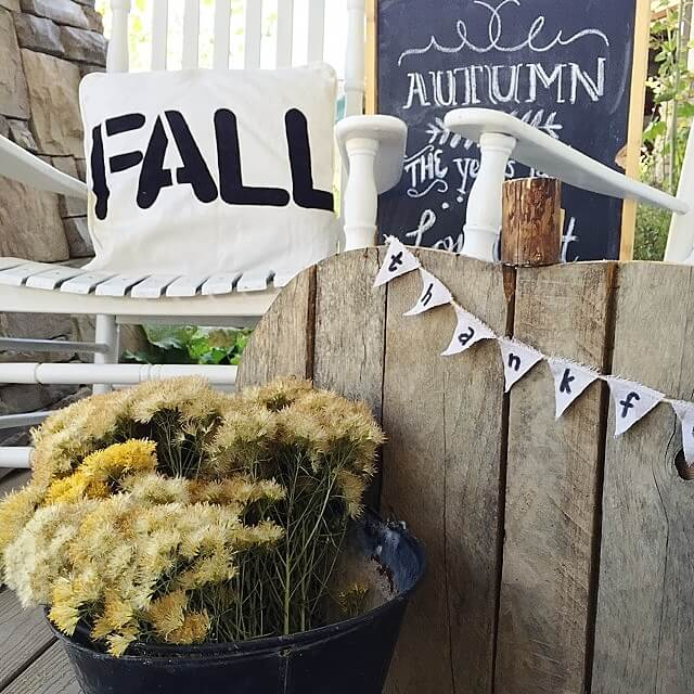 Create Fall Pillows With Sharpie Paint Pens