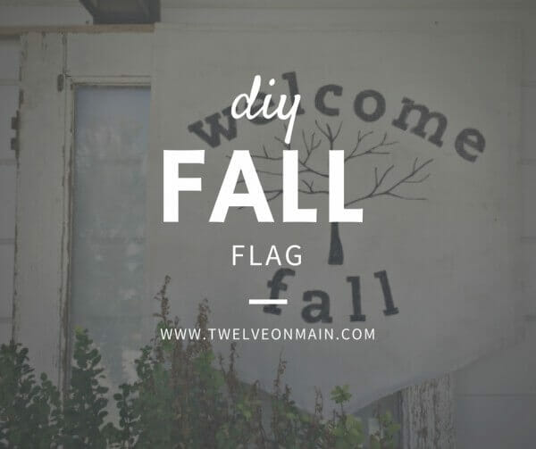 Make Your Own Fabric Flag for Fall with Dropcloth