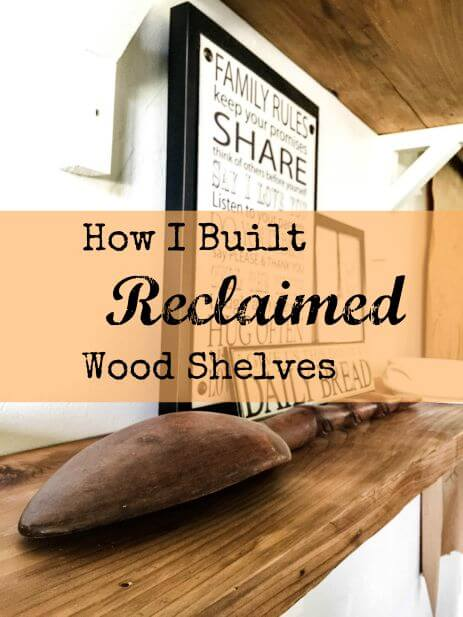 Farmhouse Style Reclaimed Wood Shelves Built In No Time!
