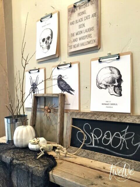 Halloween Clipboard Decor With Free Printables