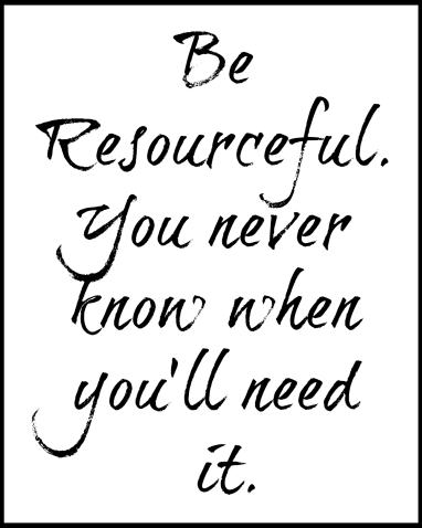 be resourceful printable
