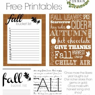 Fall Bucket List with Free Printables
