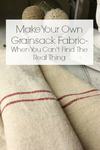 Make Your Own Grain Sack Fabric- When You Cant Get Your Hands On The Real Stuff