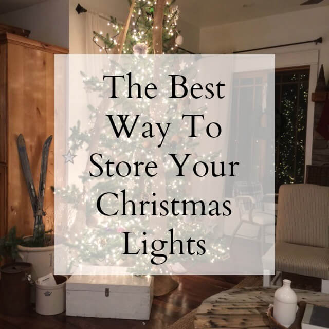 The best way to store Christmas tree lights!