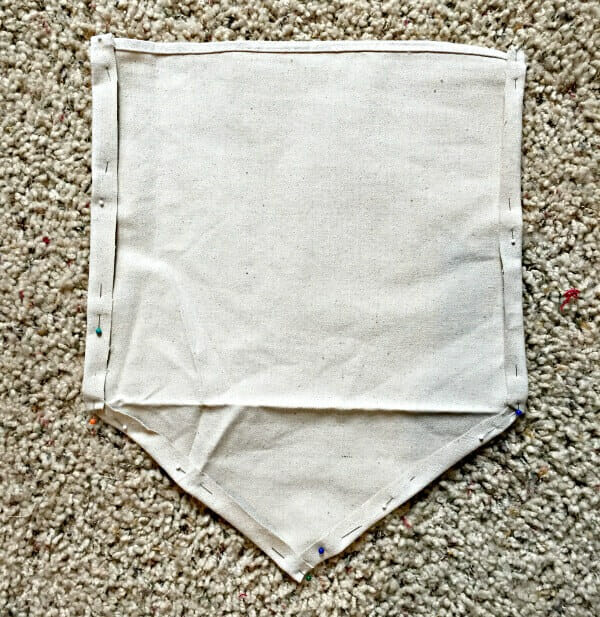 How to sew a dropcloth fabric sign with these easy steps