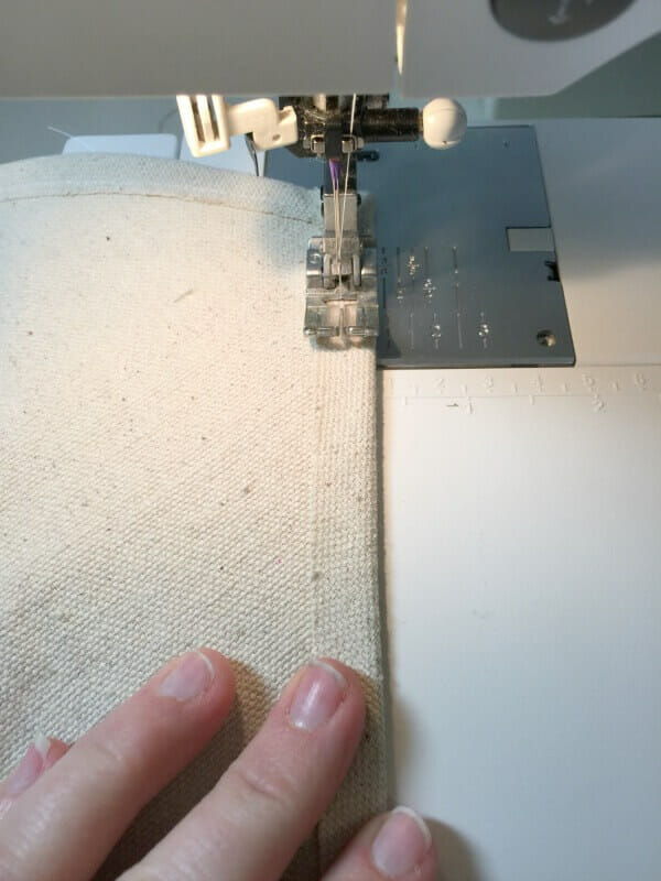 How to sew through dropcloth to make an easy fabric sign