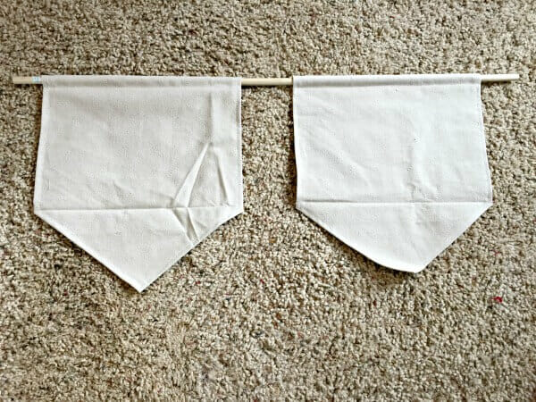 How to make super easy dropcloth fabric signs for your home decor