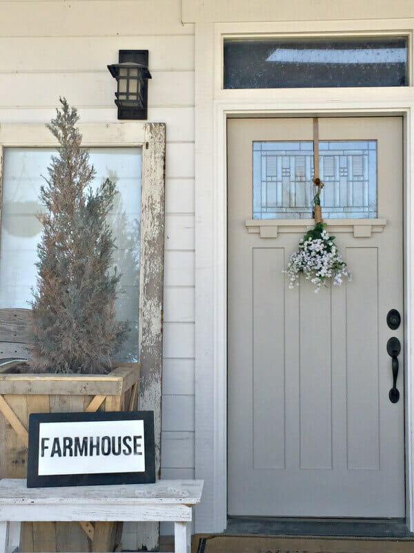 Check out my farmhouse spring decor now at my Spring Home Tour!