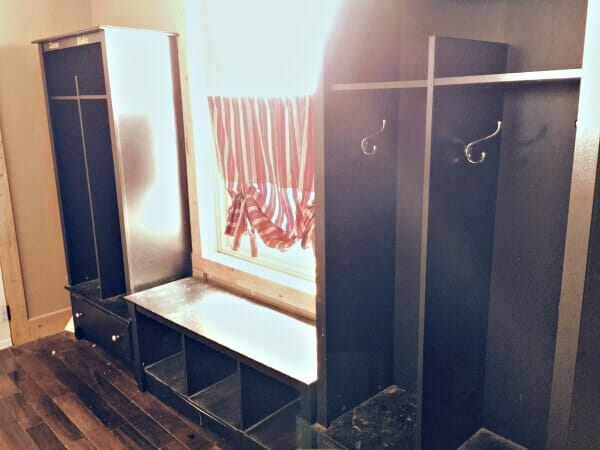 DIY mudroom storage. Its easier than you think and will keep your shoes and backpacks organized for years to come. | Twelveonmain.com