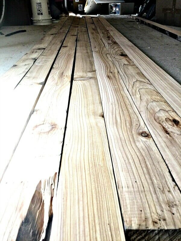 How to make your own butcher block countertops! These were made with reclaimed wood and look beautiful in the farmhouse style laundry room!