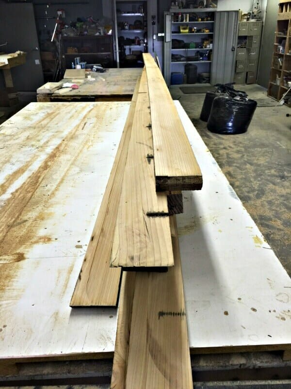 How to make butcher block countertops from relciamed wood!