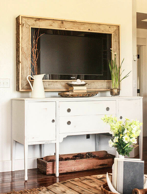 This painted buffet makeover was amazing! You must see the before. Using furniture was the right way to go. | Twelveonmain.com