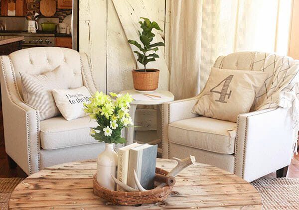 Try using occasional chairs in your home to create a cozy and inviting space. These chairs are from Lamps Plus! | Twelveonmain.com