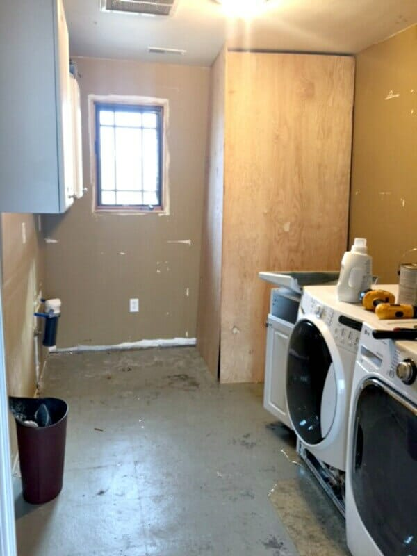 One Room Challenge Laundry Room Remodel: Week 2, its getting interesting! |Twelveonmain.com