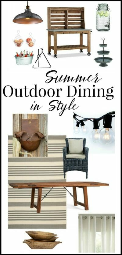 outdoor dining in style