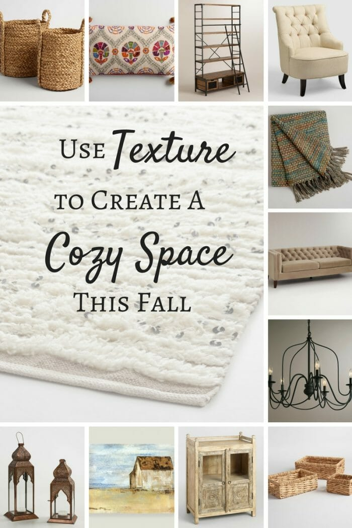 Use texture to create a cozy space for fall.