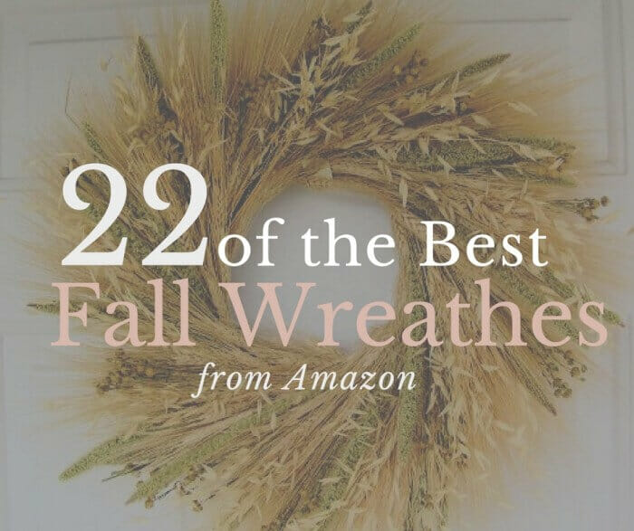 22 of the best farmhouse fall wreathes from Amazon!