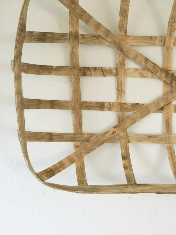 You can make your own tobacco baskets, and with a little bit of stain, antique it to the color you want!