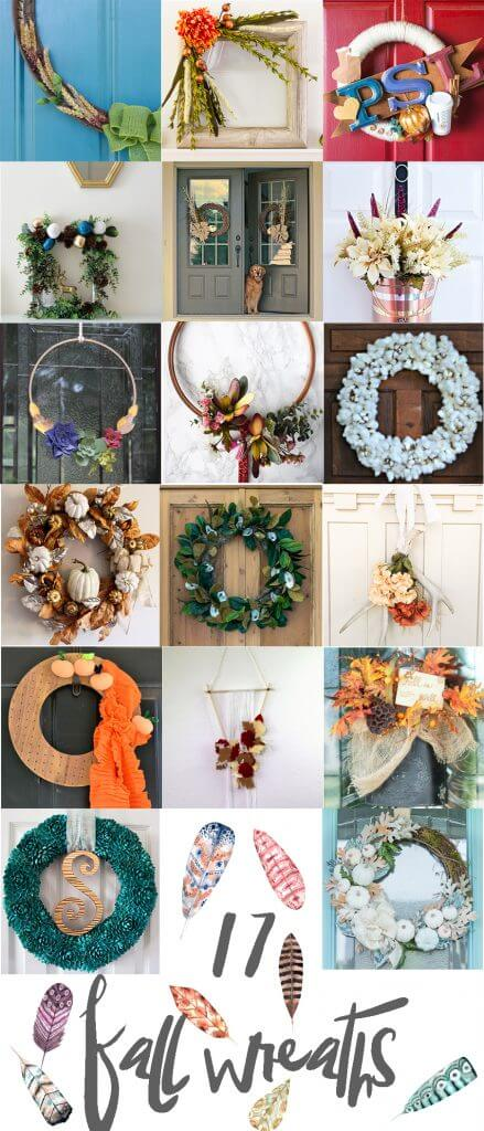 17 unique and nontraditional fall wreaths! Check it out!