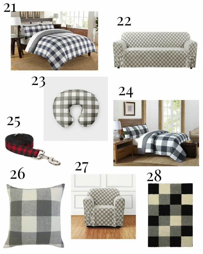 28 ways to add buffalo check to your home! I love this stuff! Did you see that dog bed? Adorable!