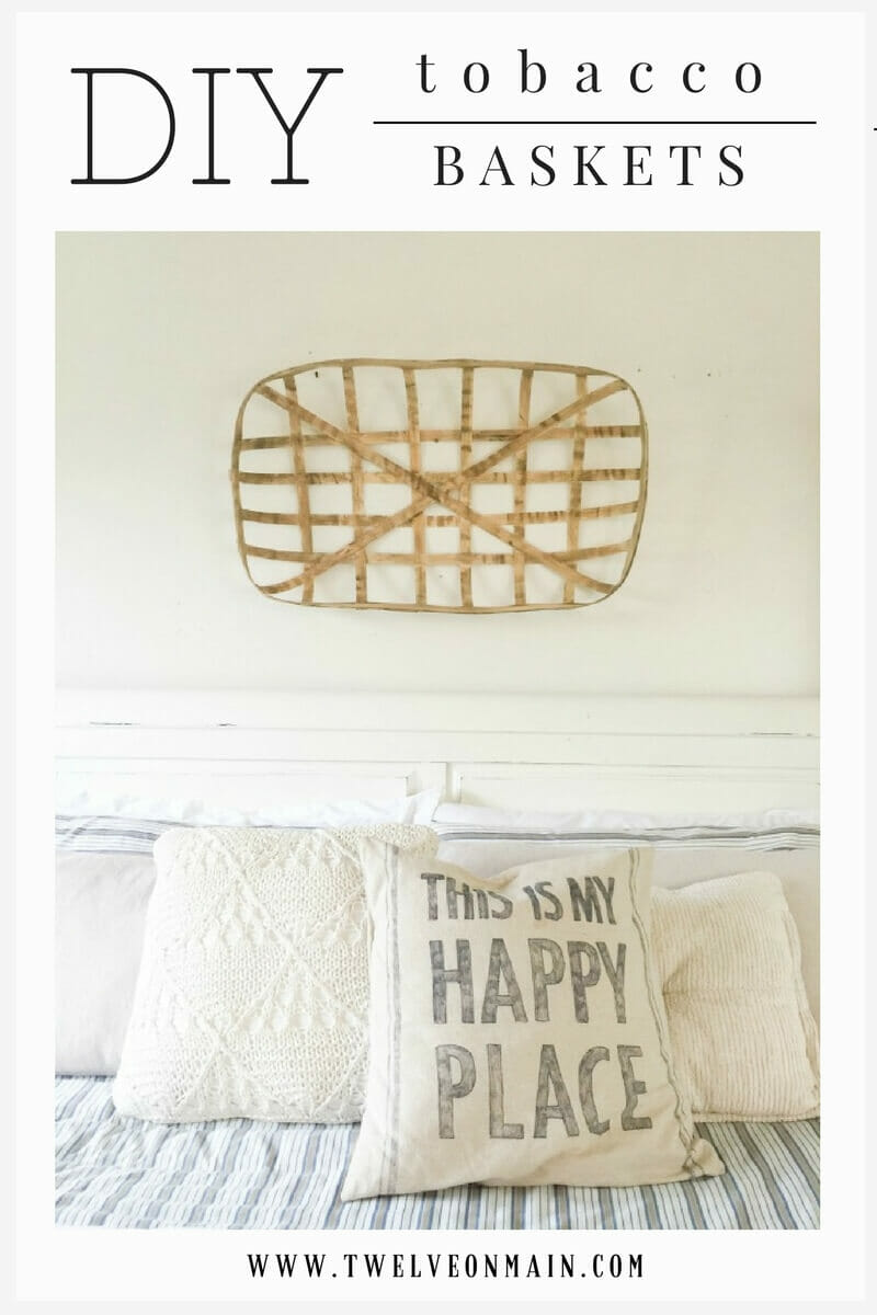 Love farmhouse style? What about tobacco baskets! Did you know toy can make tobacco baskets yourself with supplies you probably have at home!