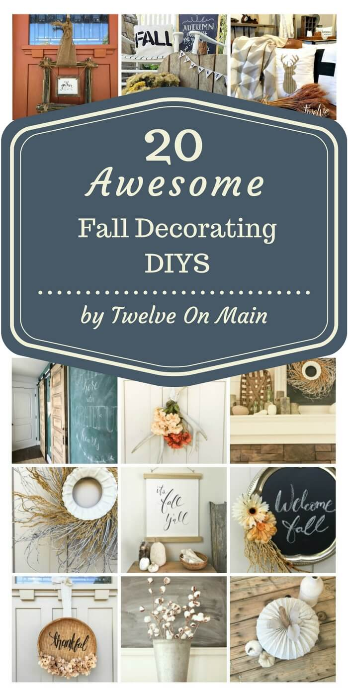 These 20 awesome fall decorating DIYs are so great! I cant believe they are all so easy!
