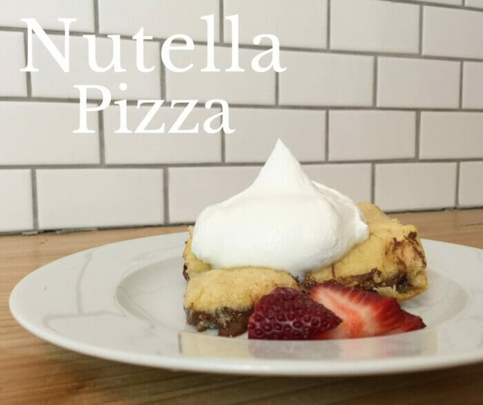Do you love Nutella? How can you not! This Nutella Pizza is so so good!! And it is so easy to make!