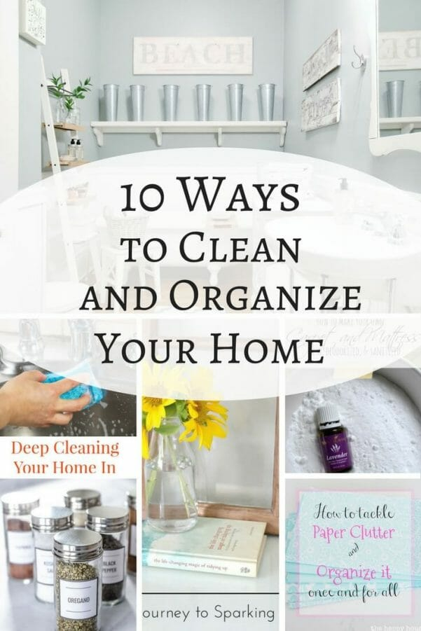 10 cleaning and organizing tips that can help save your sanity.