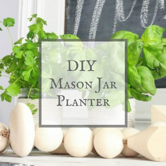 These DIY mason jar herb planters are the easiest DIY project and took less than 10 minutes to make!