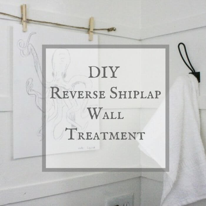 DIY Reverse Shiplap Wall Treatment