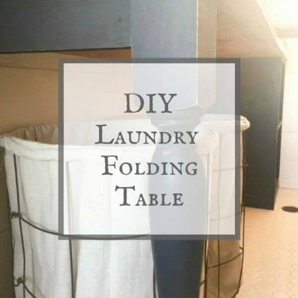 This DIY laundry table was the perfect addition to my farmhouse laundry room. See the full instructions!