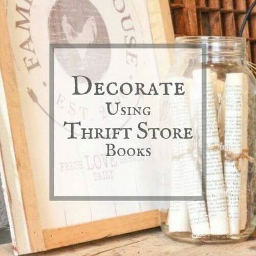 Decorate your home with thrift store books!