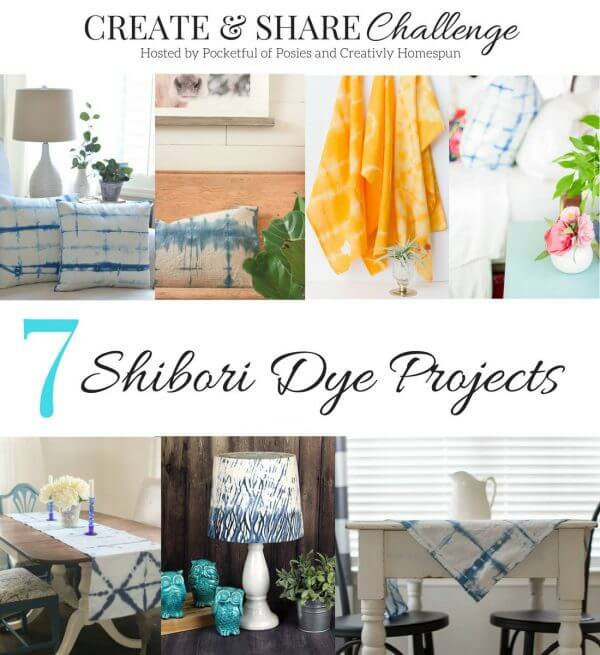 DIY Shibori Drop Cloth Pillow