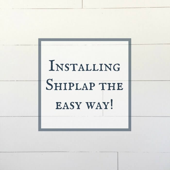 Installing Shiplap in the Entryway | $100 Room Challenge