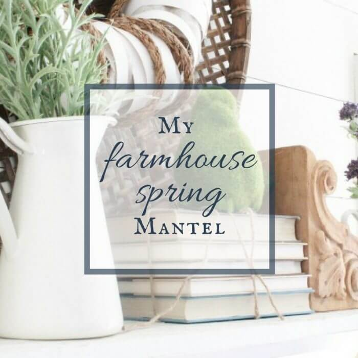 Its time to clean out the winter and decorate! Check out this farmhouse spring mantel! It is sure to inspire you to decorate your home for spring!