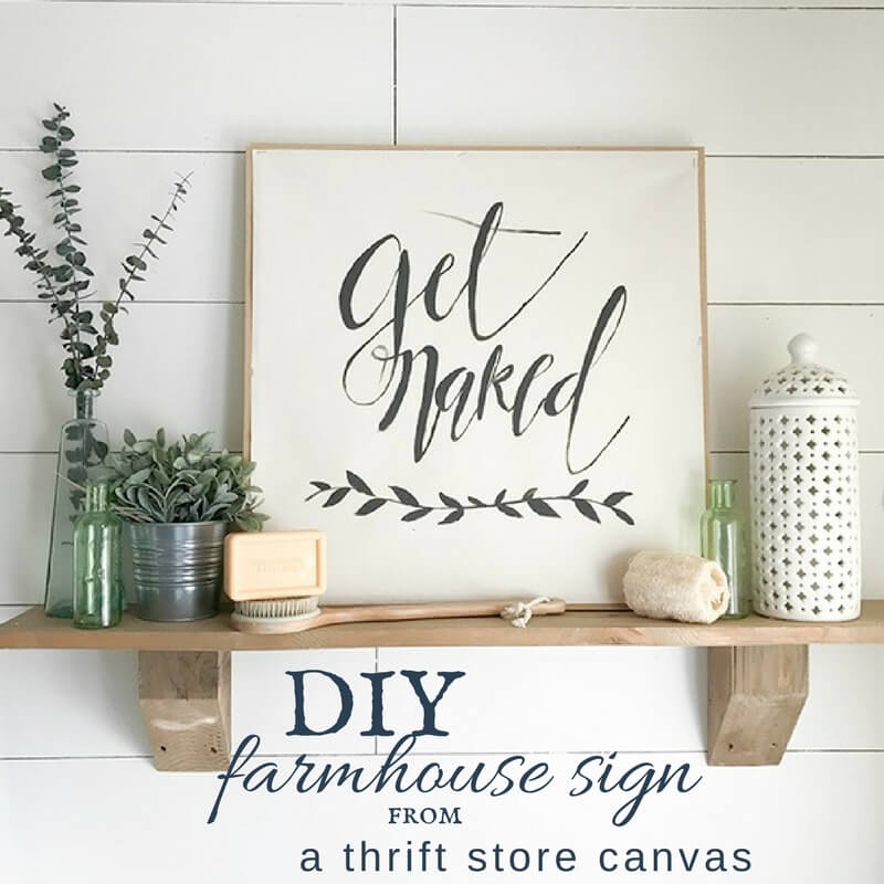 DIY Farmhouse Sign from a Thrift Store Canvas Print