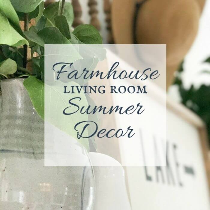 Come check out these amazing farmhouse living room ideas for the summer and late summer! Its something that can last through until fall!