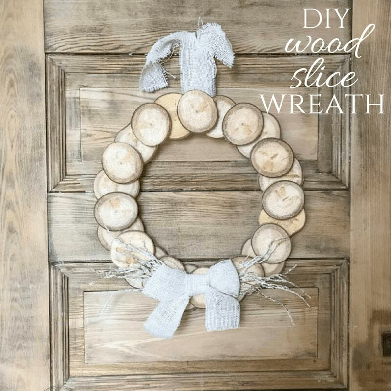 How to Make a Wreath with Wood Slices