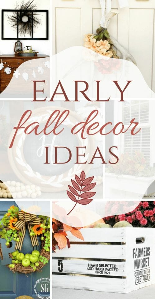 o you love fall decor? Add these early fall decor ideas to your home to help transition from summer to fall with ease. Its never too early for fall!