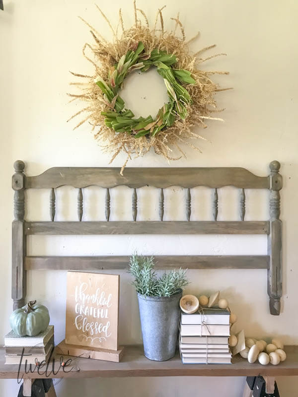 Do you love fall wreaths? Why not try this DIYD corn stalk fall wreath! It is such a cool wreath!