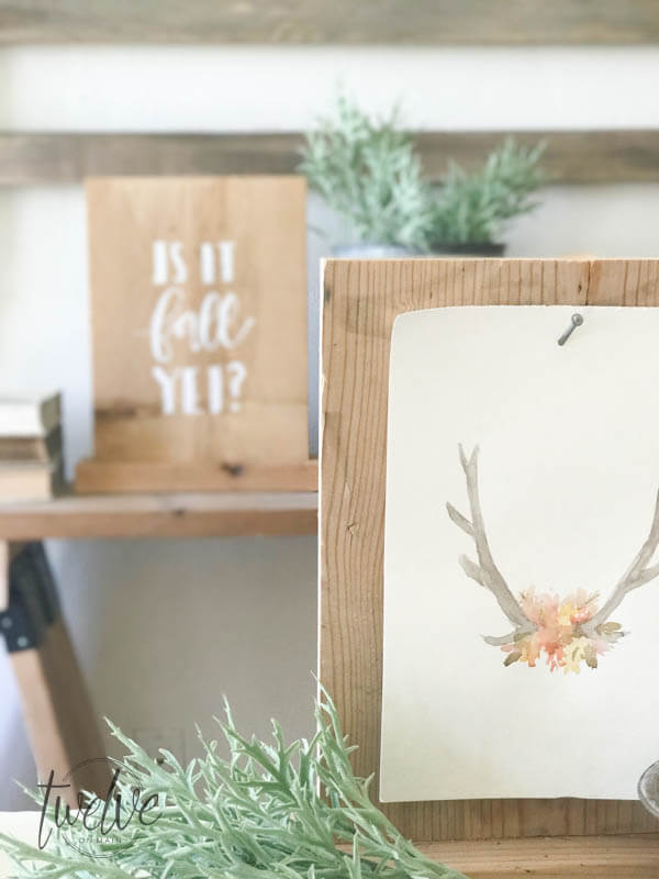 Use this easy wood sign holder to hold a farmhouse style calendar!