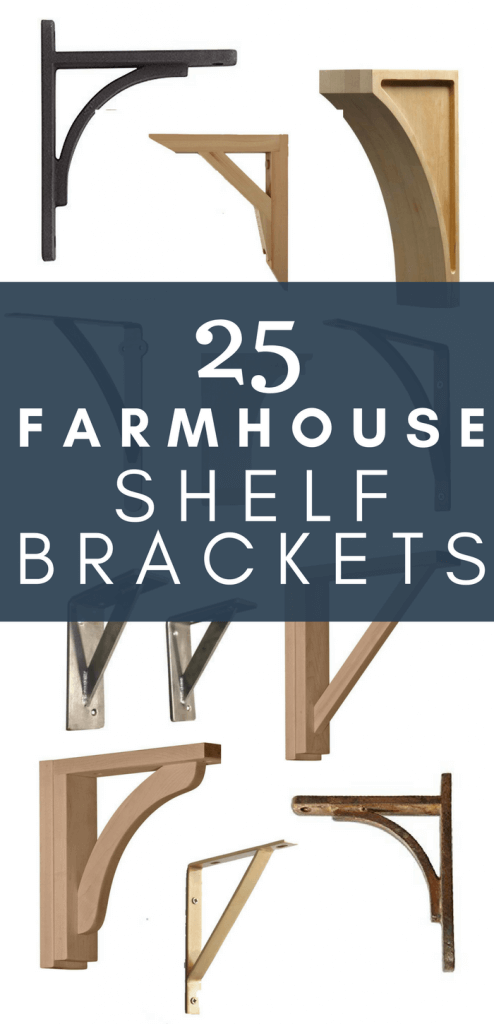 Love farmhouses style? What about farmhouse shelves? I have 25 of the coolest farmhouse style rustic shelf brackets I could find! Are you a fan? Perfect for open shelving in the kitchen or beautifully style shelves in the dining room.