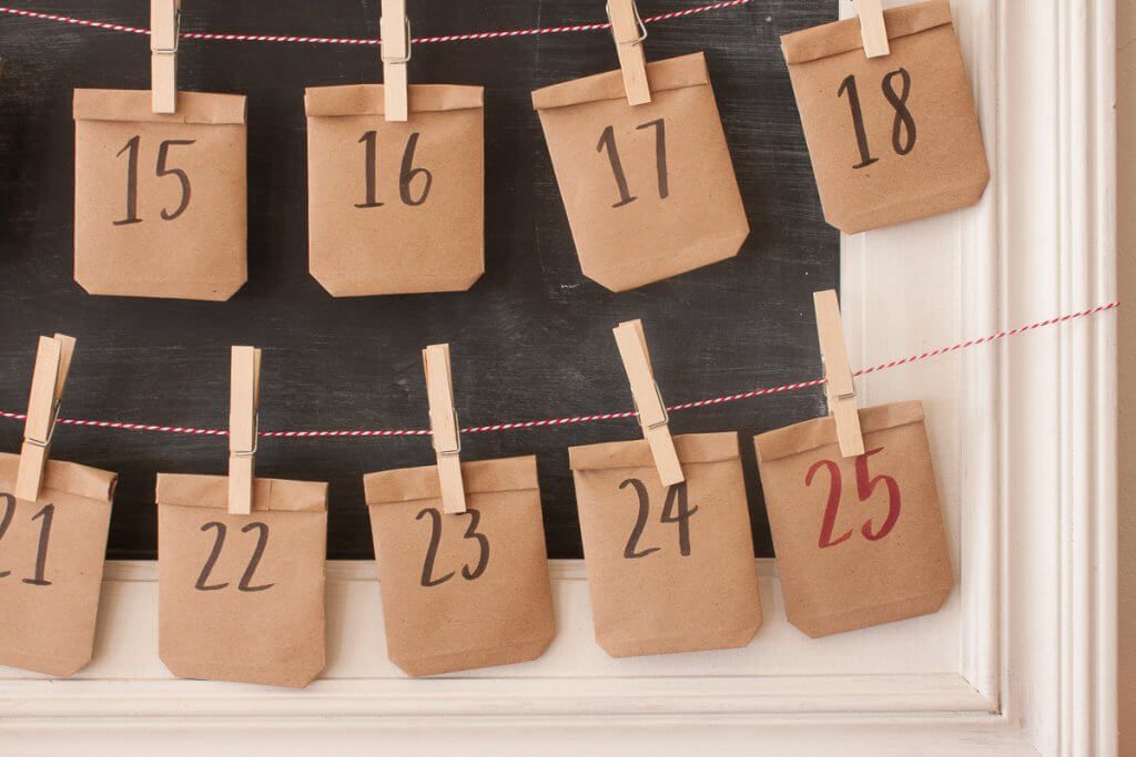 Super easy chalkboard advent calendar! What a fun activity for your kids to do during the holidays.