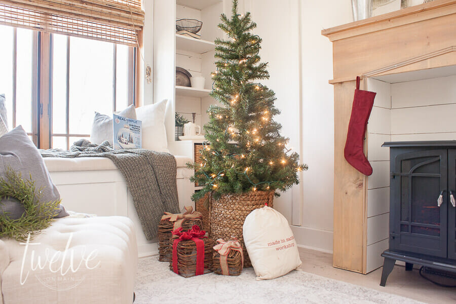 Want to decorate your bedroom for Christmas but don't know where to start? You only need a few inexpensive items to create the most cozy Christmas bedroom! #christmasdecor #farmhousechristmasbedroom