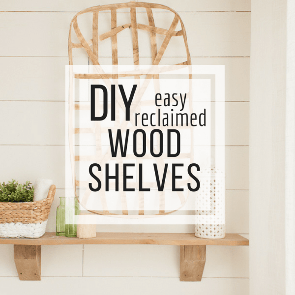 Making reclaimed rustic wood shelves can be super easy! Take the lead from the wood and build something awesome for your home.