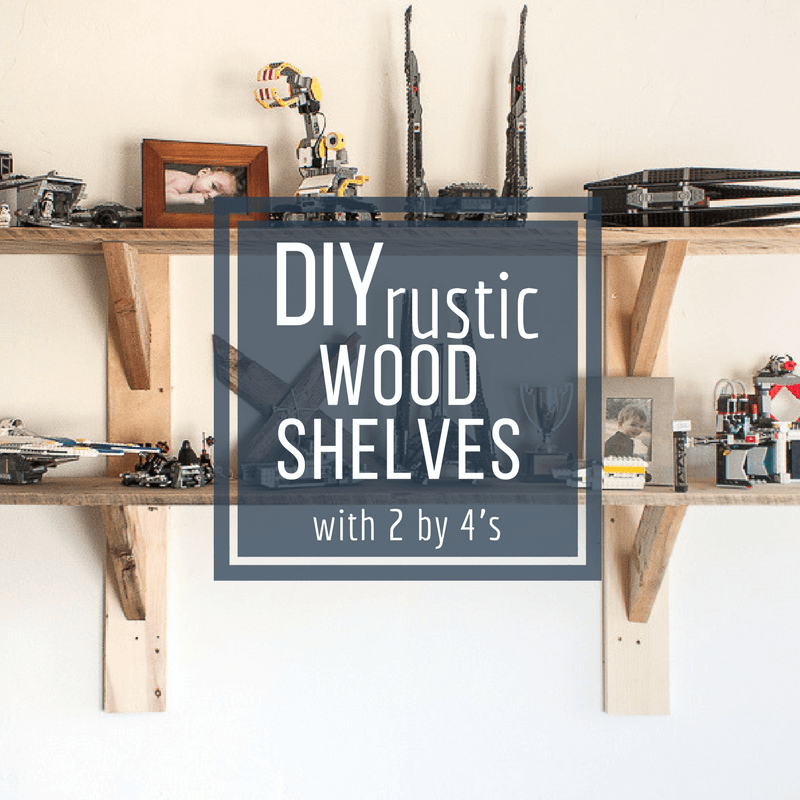 How to Make Stylish Rustic Shelves with 2 by 4's